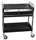 Sunex Tools SU8013ABK Black Service Cart with Lid and Locking Drawer