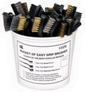 S & G Tool Aid TA17370 36 Piece Bucket of Brushes Brass Nylon and Steel