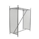 "Econoco FC60-EC 50-1/2""L x 24-3/4""W x 60""H Double Hangrail Floor Rack"