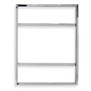 """Econoco MCW28V 28""""H x 22""""W Vertical Sign Holder for Wall Mount"""