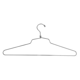 "Econoco SLD/16 - 16"" Steel Blouse and Dress Hanger w/ Regular Hook, Pack of 100"