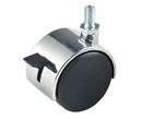 """Econoco TW12LK 2"""" Plastic Twin Wheel Caster w/ Locking Brake w/ 5/8"""" stem"""