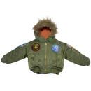 EDMO 2007B-L Snorkel Jacket/Sage Green, Kids Large Size 6-7