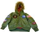 EDMO 2007Y-S Snorkel Jacket/Sage Green, Youth Small Size 8