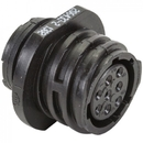 EDMO 206433-2 CIRCULAR CONNECTOR/8 position, female, shell size 11, free hanging mount, UL 94 V-0 flammability rating, thermoplastic material, threaded