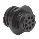 EDMO 2064862 CIRCULAR CONNECTOR/9 position, male, shell size 11, free hanging mount, UL 94 V-0 flammability rating, thermoplastic material, threaded, straight angle