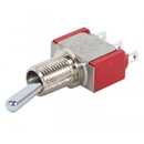 EDMO 7101K2ZQE Toggle Switch/Spdt (Single Pole Double Throw), On-None-On, Panel Mount, Silver Plating, Epoxy Terminal Seal.