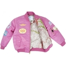 EDMO MA1-P-7 Ma1 Jacket/Pink With Patches, Kids Size 7