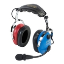 EDMO PA-1151ACB PILOT USA HEADSET/CHILD(BOY)/MONO/STEREO/FLEX BOOM/AUDIO IN/RED & BLUE EAR CUPS