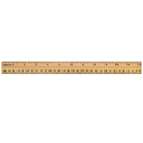 Acme United ACM10377 School Ruler Wood 12 In Single