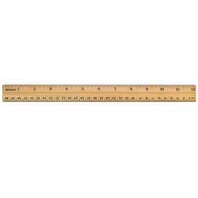 Acme United ACM10377 School Ruler Wood 12 In Single, Price/EA