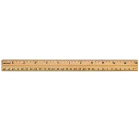 Acme United ACM10377 School Ruler Wood 12 In Single, Price/EA