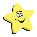 Ashley Productions ASH10016 Magnetic Whiteboard Eraser Star