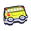 Ashley Productions ASH10018 Magnetic Whiteboard Eraser School Bus
