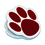 Ashley Productions ASH10219 Magnet Clips Maroon Paw
