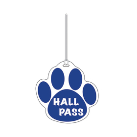 Ashley Productions ASH10351 Blue Paw Hall Pass 4 X 4
