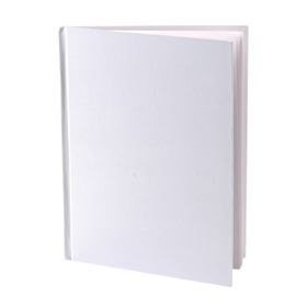 Ashley Productions ASH10700 White Hardcover Blank Book 8-1/8X6-3/8, Price/EA