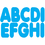 Ashley Productions ASH17001 Blue 2-3/4In Magnetic Letters