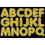 Ashley Productions ASH17504 Gold Sparkle 1-3/4In Magnetic Letters