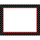 Barker Creek & Lasting Lessons BCPLL848CH Just Dotty Black & White Border - Chart