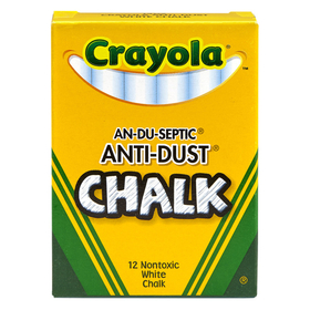 Crayola BIN1402 Chalk Anti-Dust White 12 Ct, Price/EA