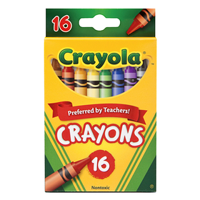 Crayola BIN3016 Crayons 16 Color Peggable, Price/EA