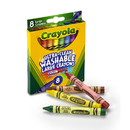 Crayola BIN3280 Washable Crayons Large 8Ct Peggable Box
