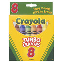 Crayola BIN389 Crayons Jumbo 8Ct Peggable Tuck Box