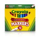 Crayola BIN587712 Crayola Markers 12Ct Asst Colors - Conical Tip