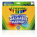 Crayola BIN587812 Crayola Washable Markers 12Ct Asst - Colors Conical Tip