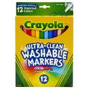 Crayola BIN587813 Crayola Washable Markers 12Ct Asst - Colors Fine Tip
