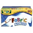 Crayola BIN588215 Fabric Marker 80Ct 10 Color Classpack