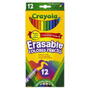 Crayola BIN684412 Erasable Colored Pencils 12 Ct