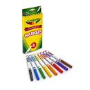 Crayola BIN7709 Original Drawing Markers 8 Color Fine Tip
