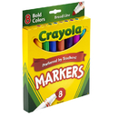 Crayola BIN7732 Coloring Marker Bold Conical 8Pk
