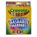Crayola BIN7801 Multicultural Washable Markers 8Pk Conical Tip