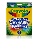 Crayola BIN7808 Washable Coloring Markers 8 Colors