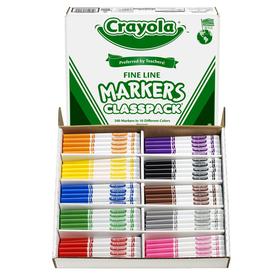 Crayola BIN8210 Classpack Markers 200 Ct Non Washable Fine Tip, Price/EA