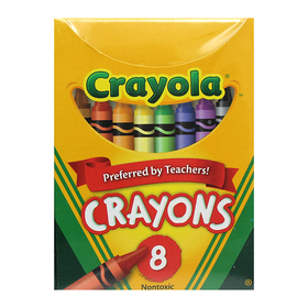 Crayola BIN8 Regular Size 8 Colors, Price/EA