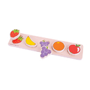 Bigjigs Toys BJTBB065 Chunky Lift & Math Puzzle Fruit