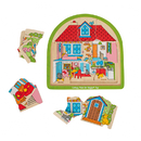 Bigjigs Toys BJTBJ588 Multi-Layer House Puzzle