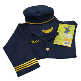 Brand New World BNWCAP100 Dramatic Dress Ups Community Helper Costumes Airline Pilot, Price/EA