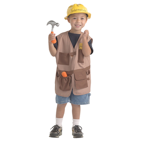 Brand New World BNWCCW102 Dramatic Dress Ups Community Helper Costume Construction Worker, Price/EA