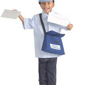 Brand New World BNWCPW107 Dramatic Dress Ups Community Helper Costumes Mail Carrier, Price/EA
