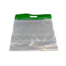 Bags Of Bags BOBZFH1413G Zipafile Storage Bags 25Pk Green