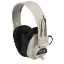 Califone International CAF2924AVPV Deluxe Mono Headphone Fixed Coiled Cord W/ Volume Control