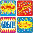 Carson Dellosa CD-0625 Stickers Positive Words 120/Pk Acid & Lignin Free