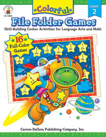 Carson Dellosa CD-104050 Colorful File Folder Games Gr 2, Price/EA