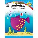 Carson Dellosa CD-104327 Alphabet Sounds & Pictures Home Workbook Gr Pk-K