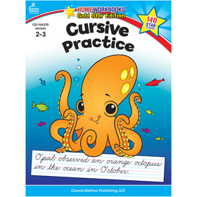 Carson Dellosa CD-104370 Cursive Practice Home Workbook Gr 2-3, Price/EA